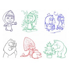 """Детская печать """"Маша и Медведь"""""""